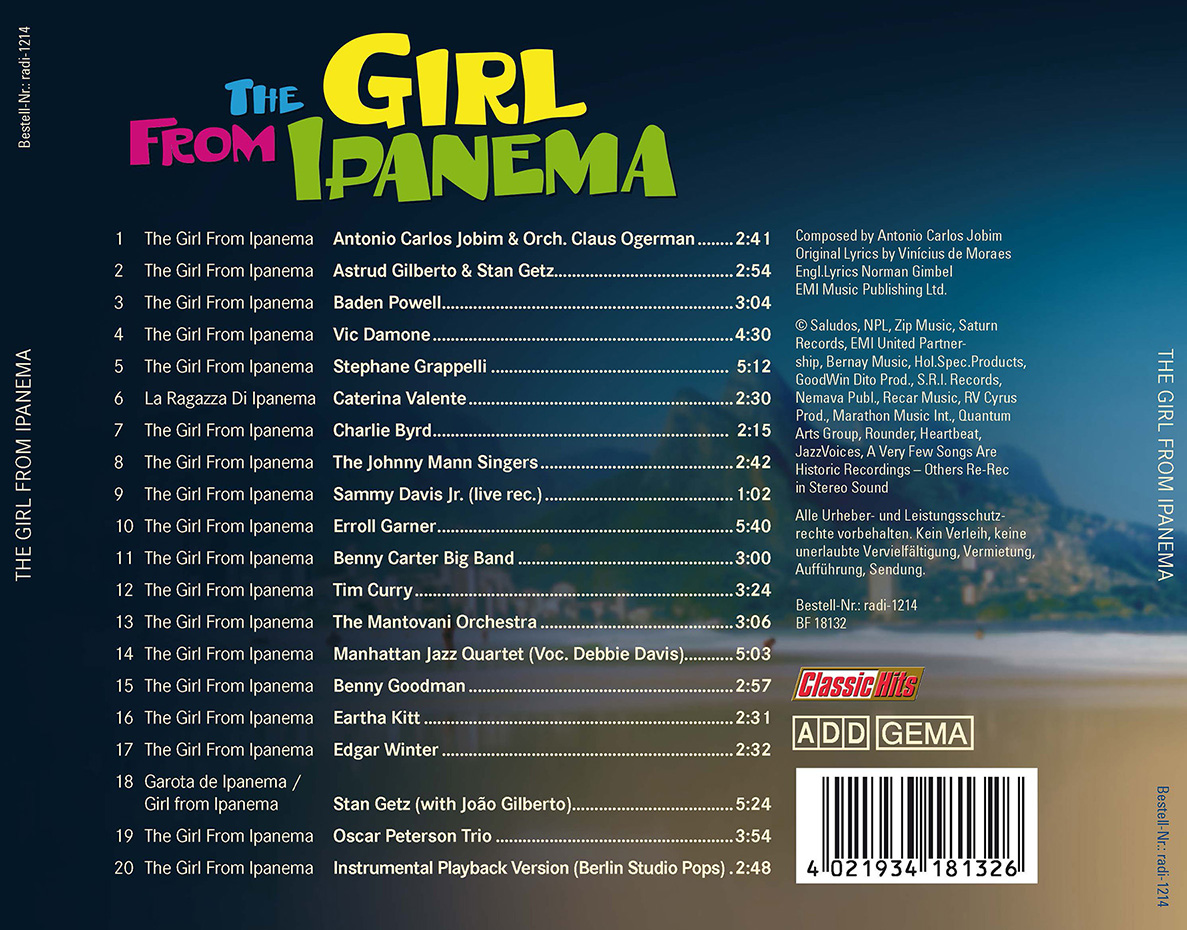The Girl from Ipanema — 20 Versionen