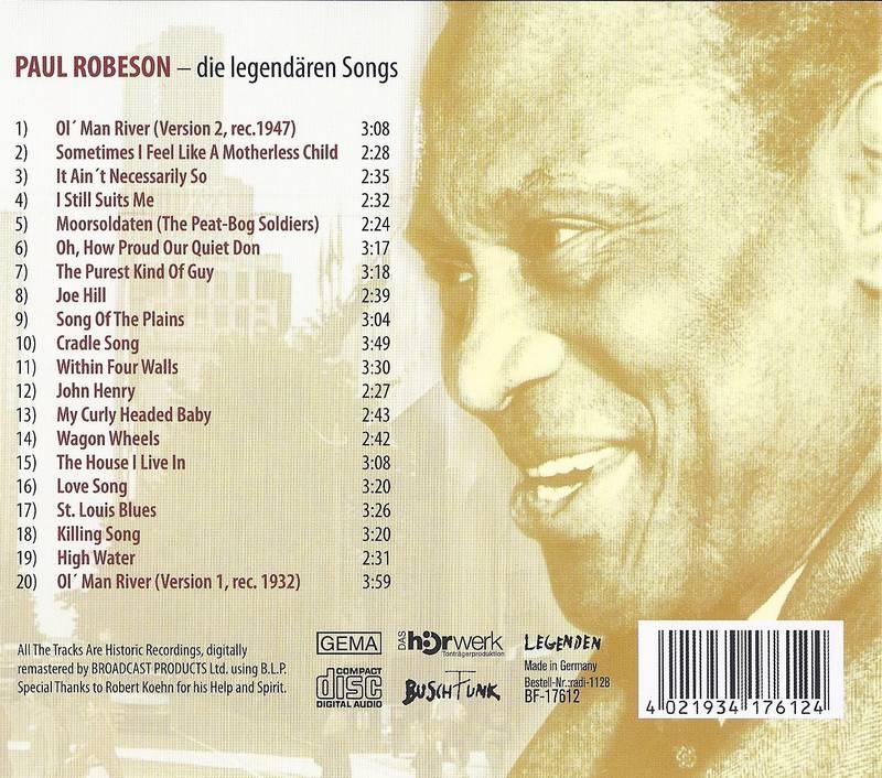 Paul Robeson Titel
