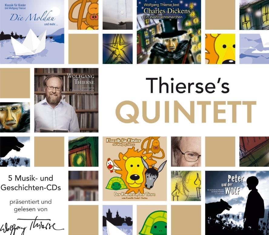 5 Musik- und Geschichten- CDs mit Wolfgang Thierse