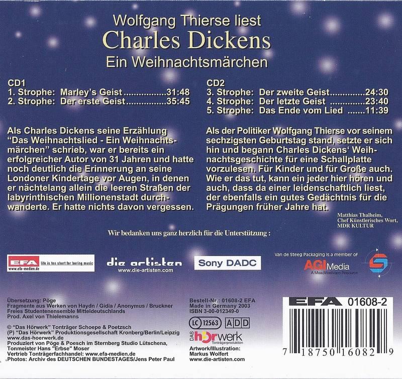 Thierse liest Charles Dickens - Ein Weihnachtsmärchen