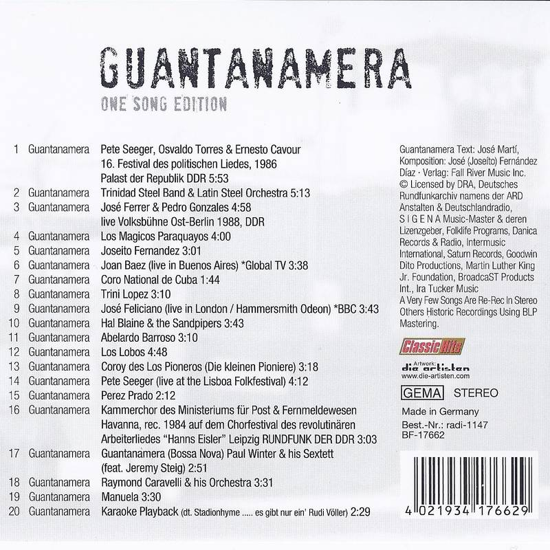Guantanamera One Song Edition