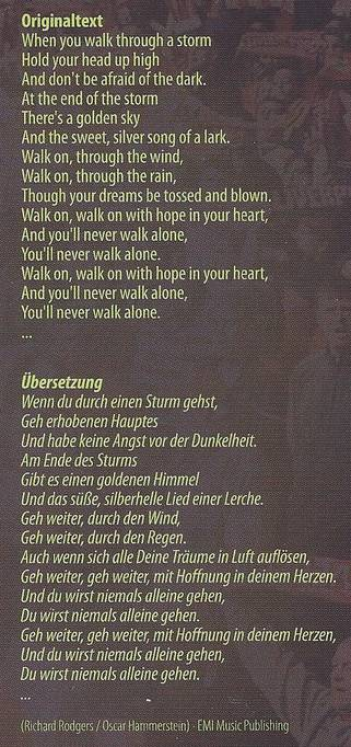 Text YouLl Never Walk Alone