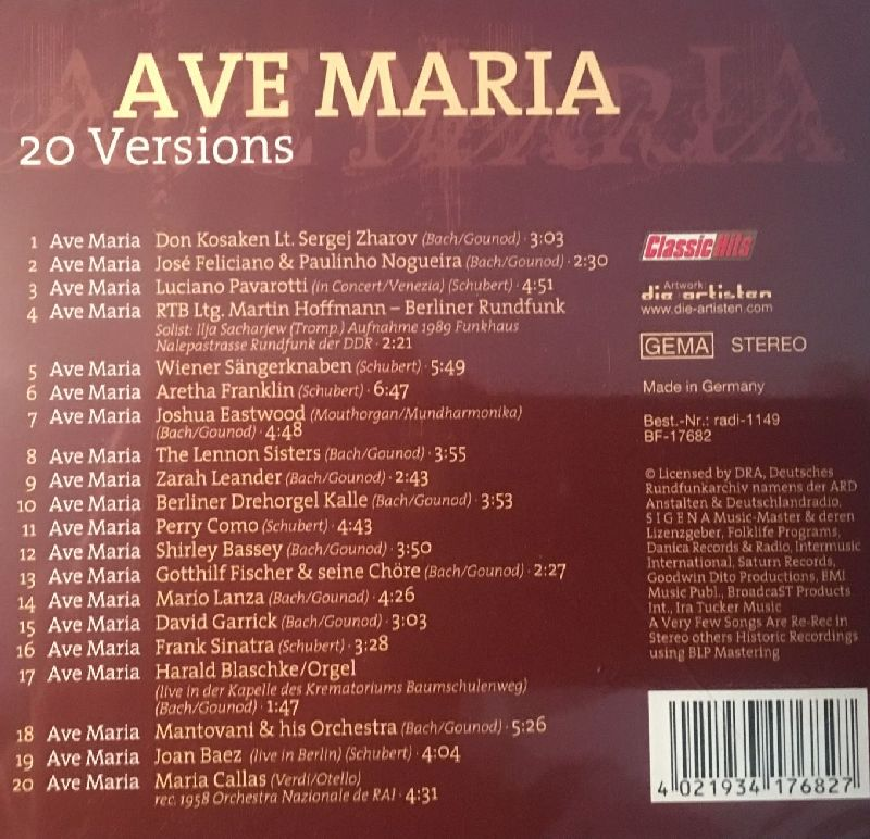 Ave Maria - 20 Versions