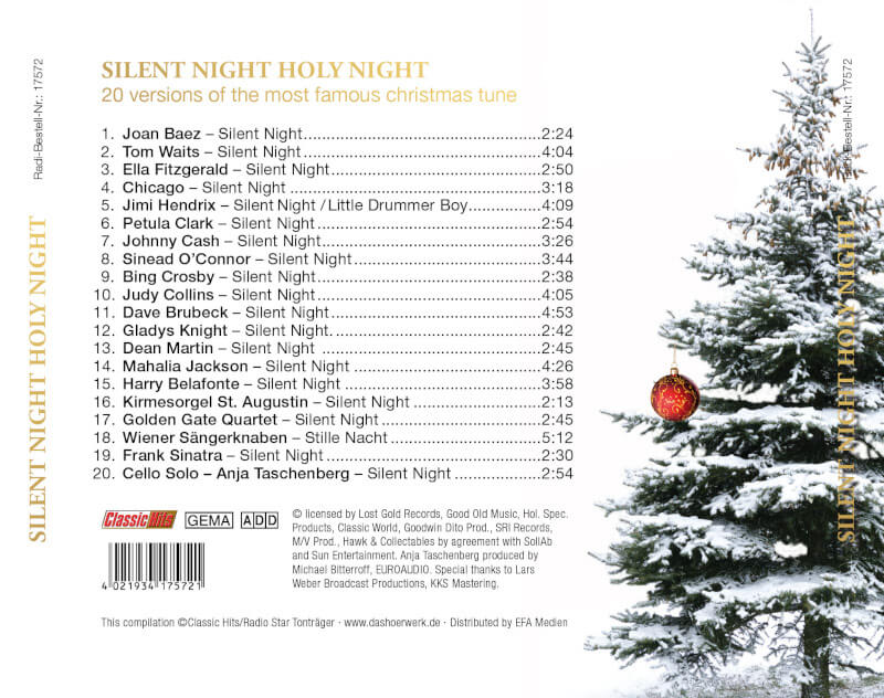 silent night holy night - inlay